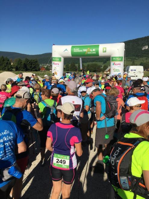 Euro Nordic Walk 2017 15 km avant le départ de 8h30