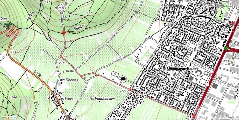 Itinéraire parking déchetterie Marsannay